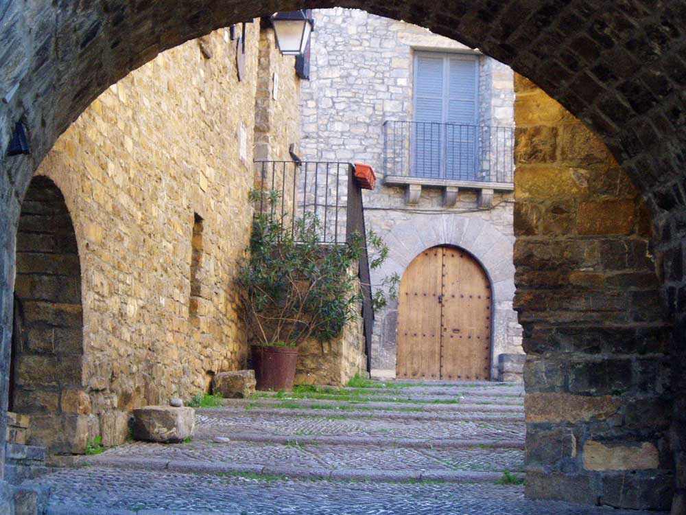 The medieval town of Ainsa Huesca Spain